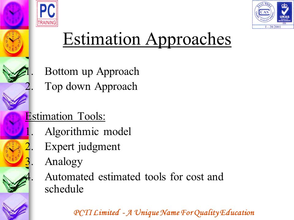 Estimation Approaches