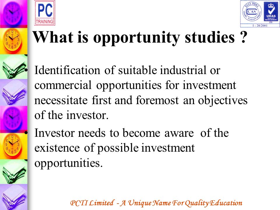 What is opportunity studies