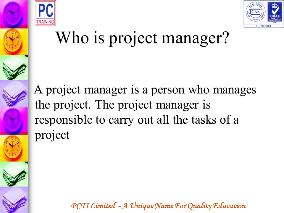 Who is project manager