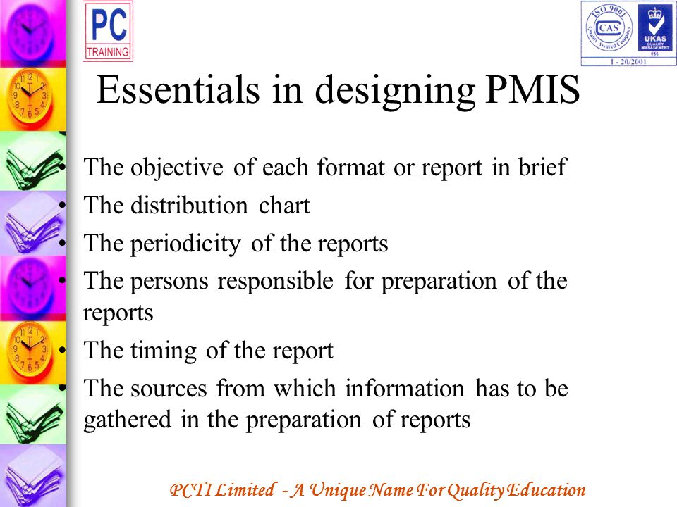 Essentials in designing PMIS