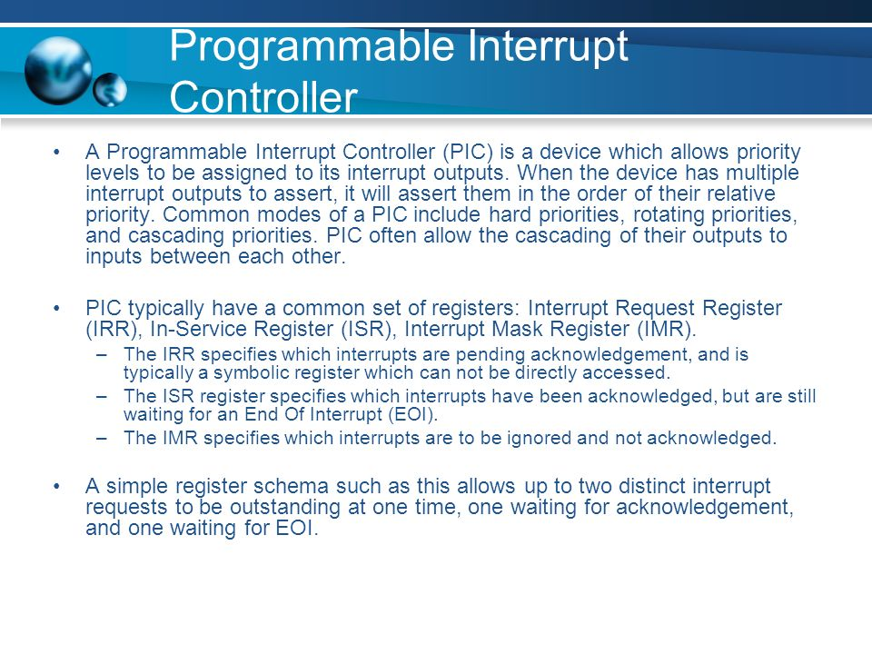 Programmable Interrupt Controller