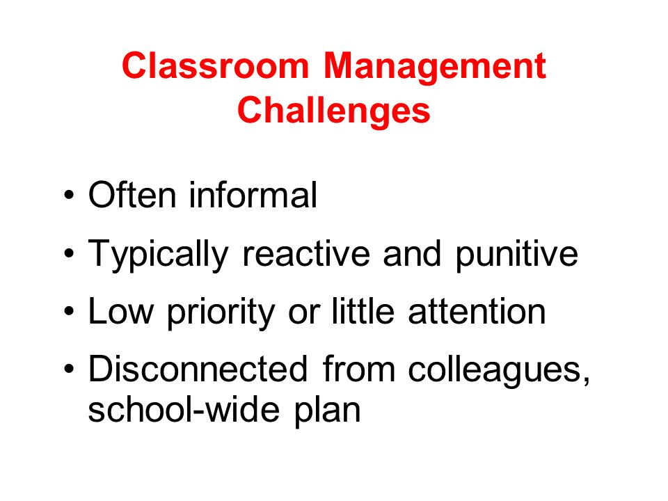 Classroom Management Challenges