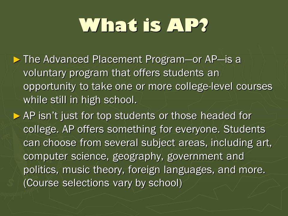 What is AP