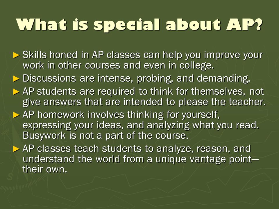 What is special about AP