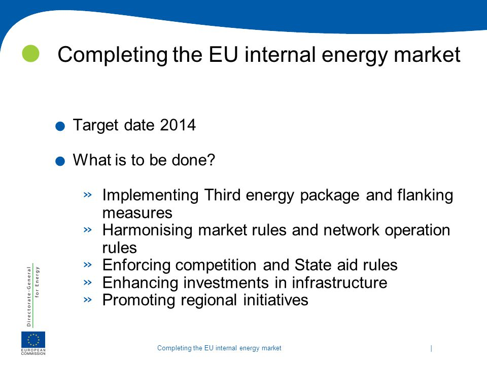 Completing the EU internal energy market