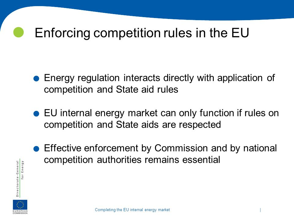 Enforcing competition rules in the EU