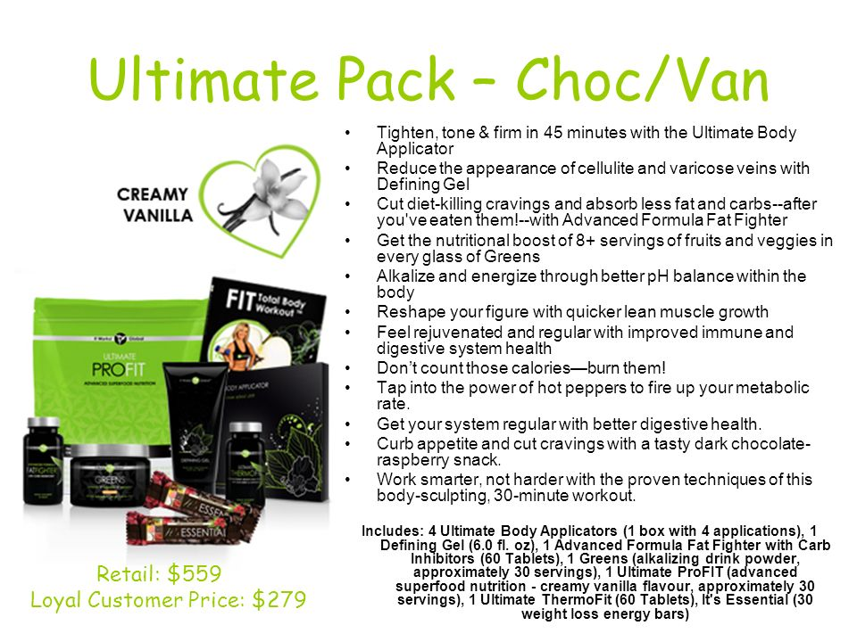 Ultimate Pack – Choc/Van