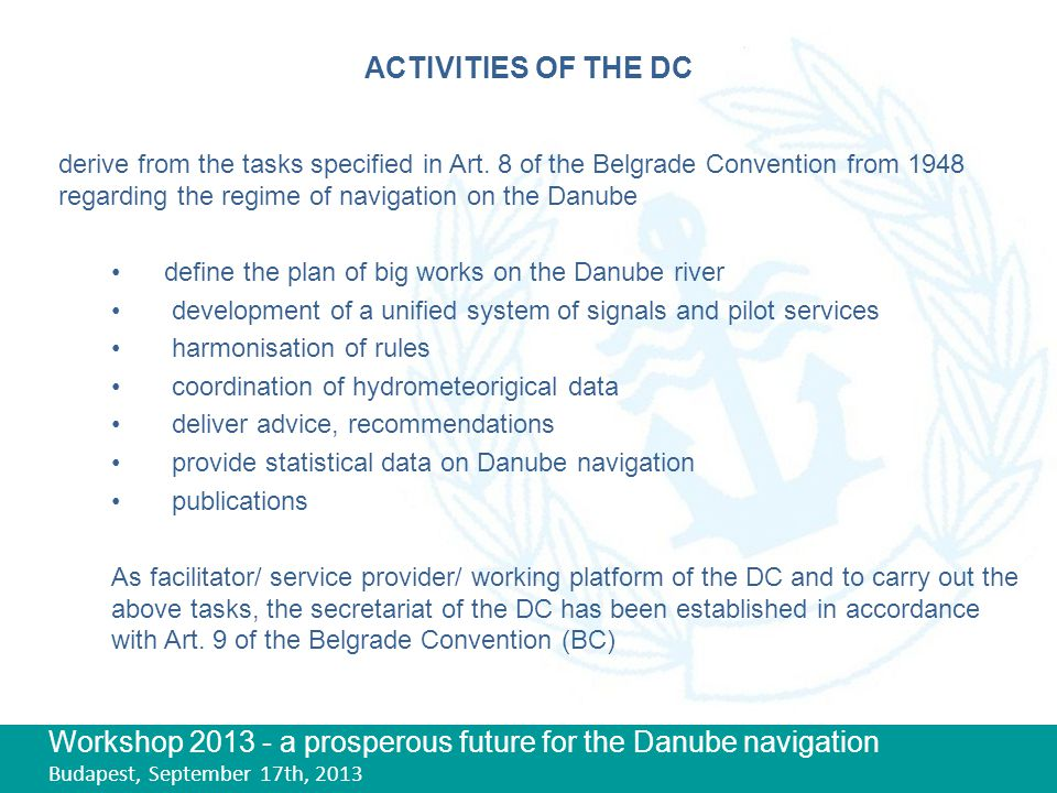 Workshop a prosperous future for the Danube navigation