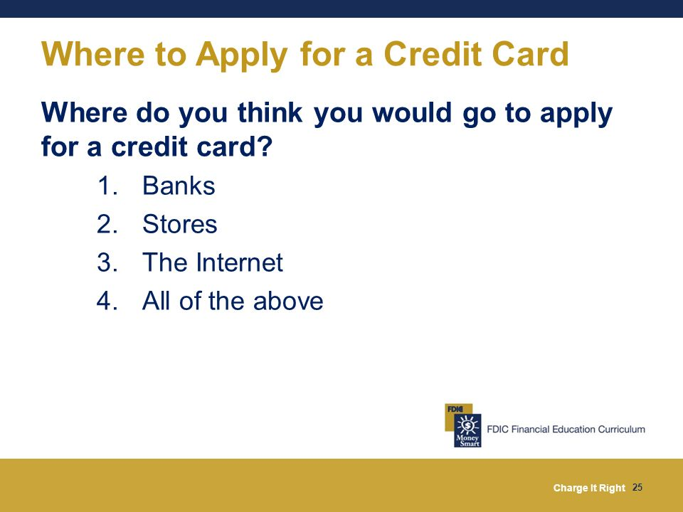 Where to Apply for a Credit Card