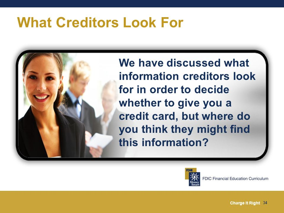 What Creditors Look For