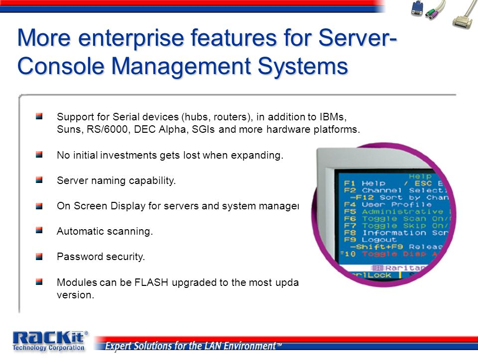 More enterprise features for Server-Console Management Systems