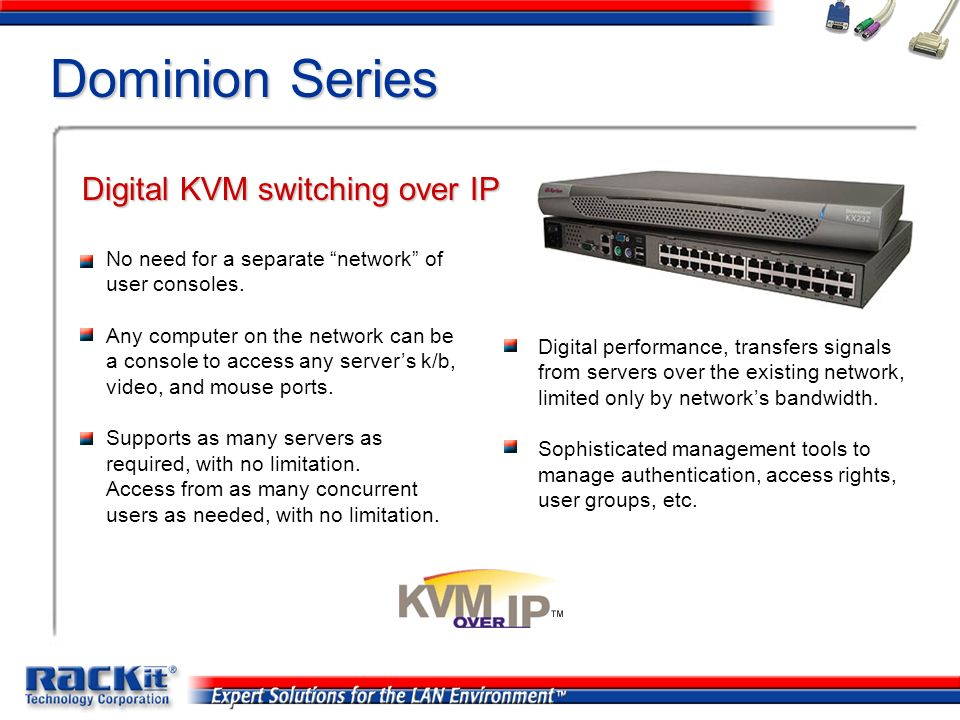 Dominion Series Digital KVM switching over IP