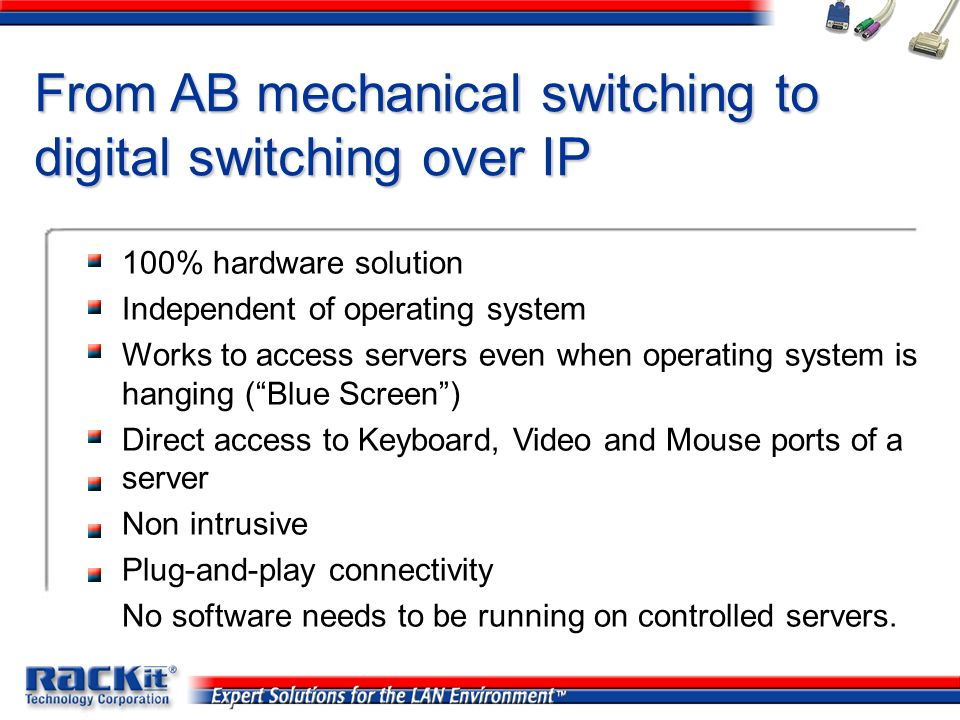 From AB mechanical switching to digital switching over IP