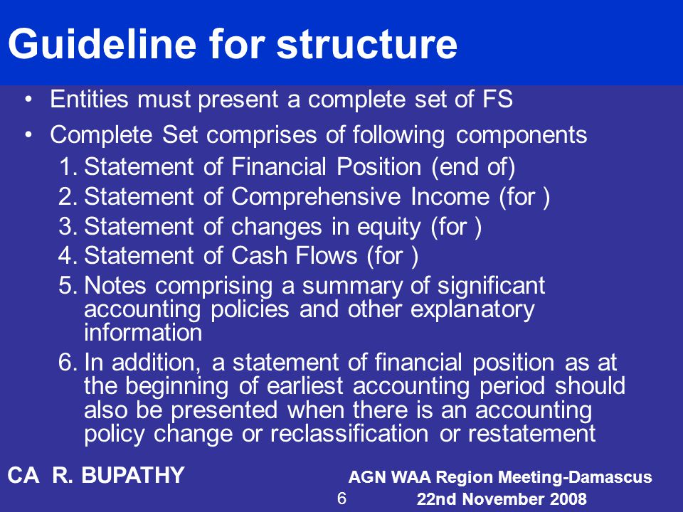 Guideline for structure