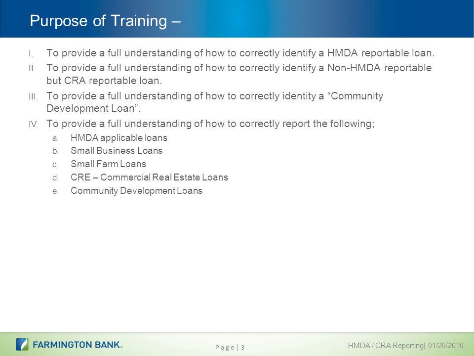 Cra Reportable Loans