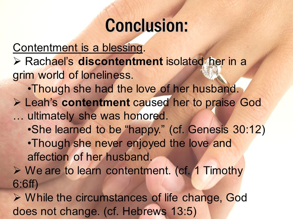 Conclusion: Contentment is a blessing.