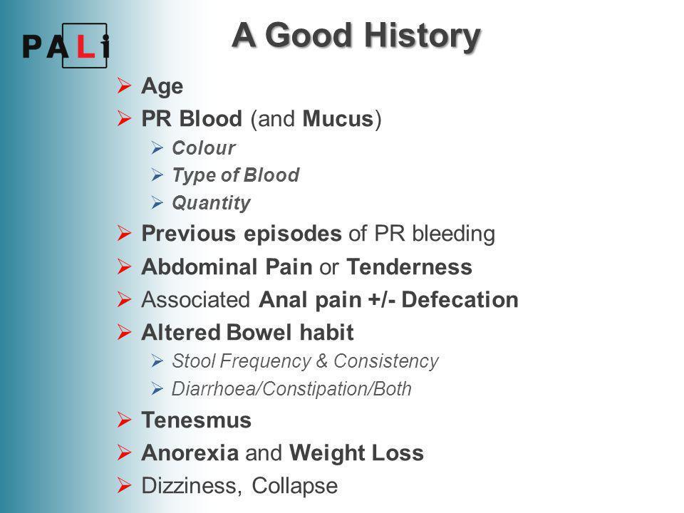 Lower GI Bleeding Tom Paterson PALi 5th Year Working Group