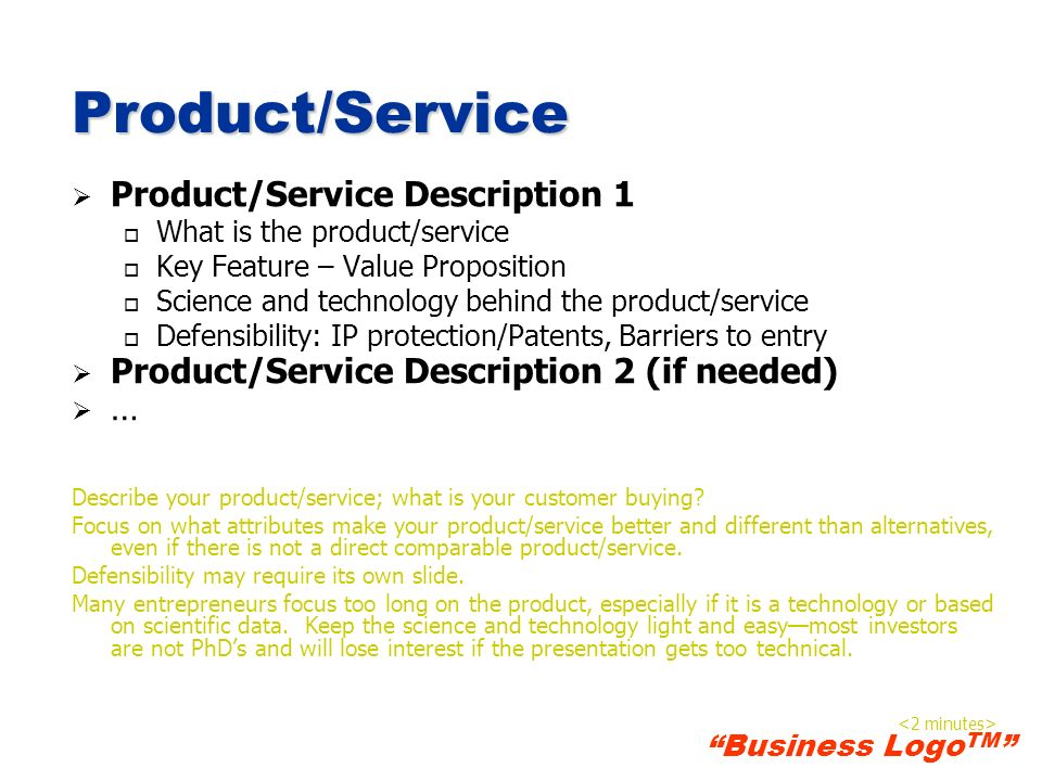 Product/Service Product/Service Description 1
