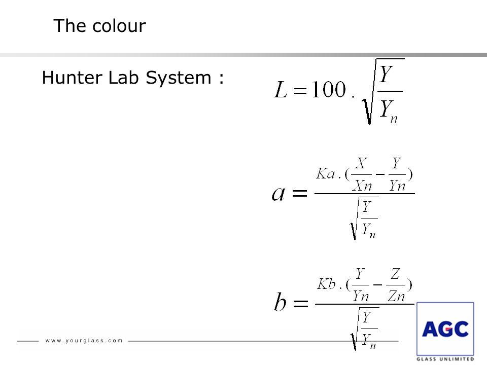 The colour Hunter Lab System :