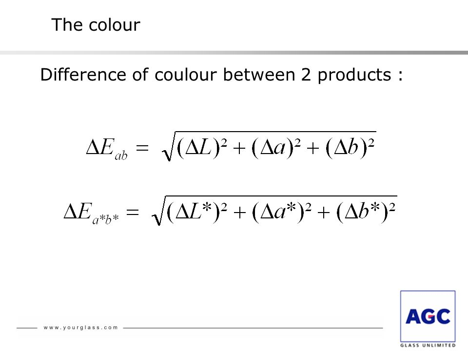The colour Difference of coulour between 2 products :