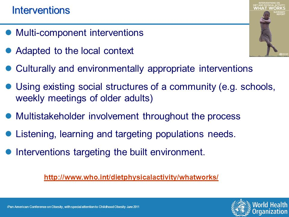 Interventions Multi-component interventions