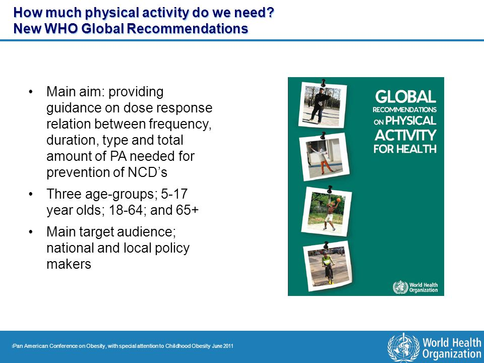 How much physical activity do we need New WHO Global Recommendations