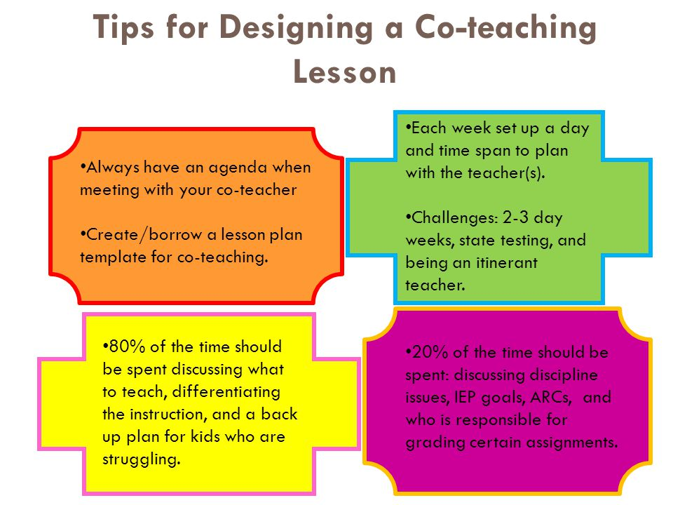 Tips for Designing a Co-teaching Lesson