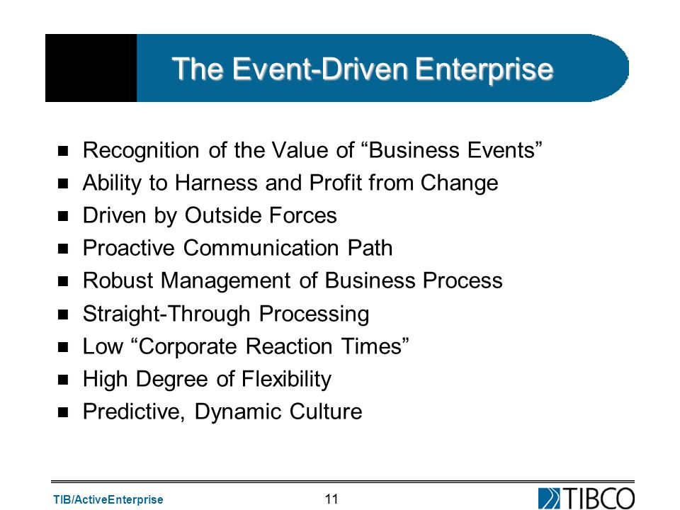 The Event-Driven Enterprise