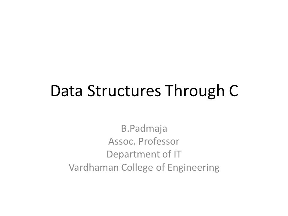 Data Structures Through C