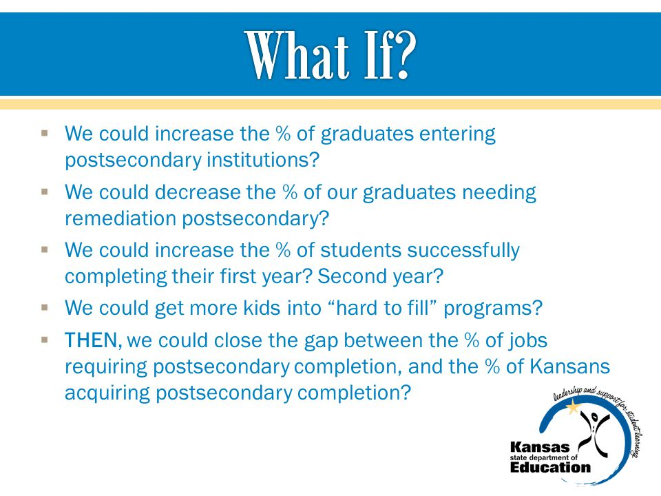 What If We could increase the % of graduates entering postsecondary institutions