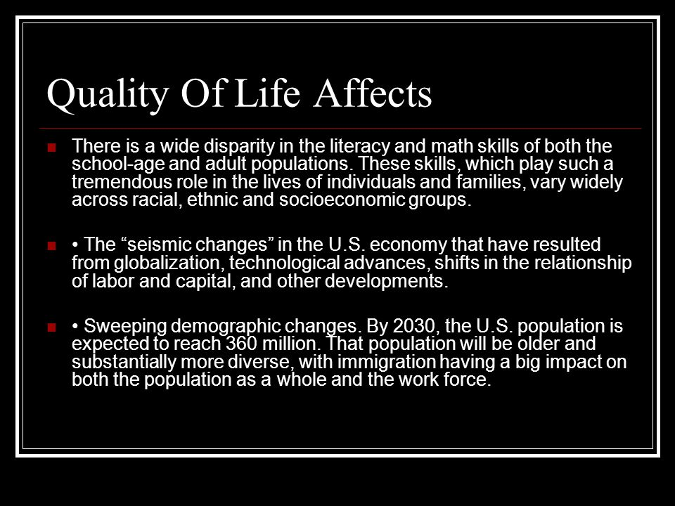 Quality Of Life Affects