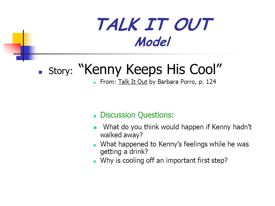 TALK IT OUT Model Story: Kenny Keeps His Cool