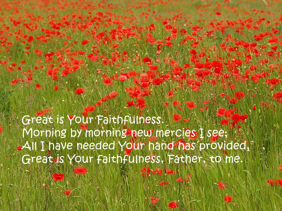 Great is Your Faithfulness.