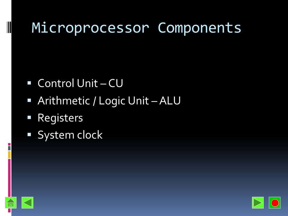 Microprocessor Components