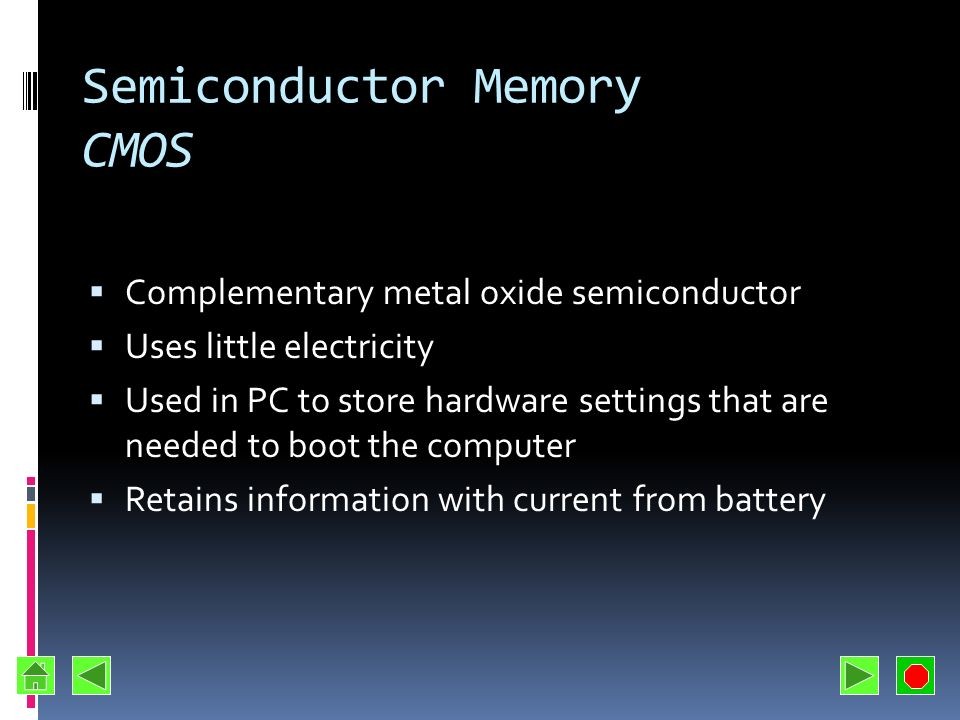 Semiconductor Memory CMOS