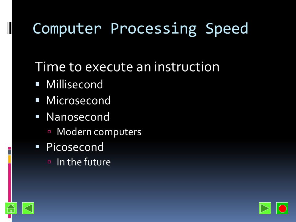 Computer Processing Speed