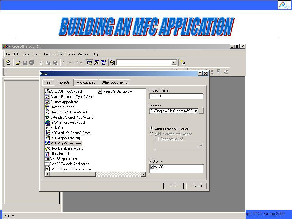 BUILDING AN MFC APPLICATION