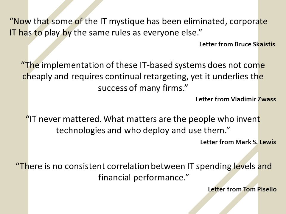 Now that some of the IT mystique has been eliminated, corporate IT has to play by the same rules as everyone else.