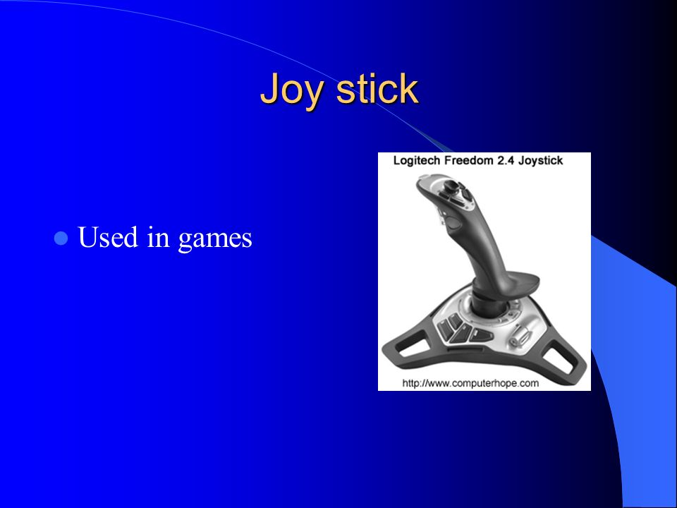 Joy stick Used in games