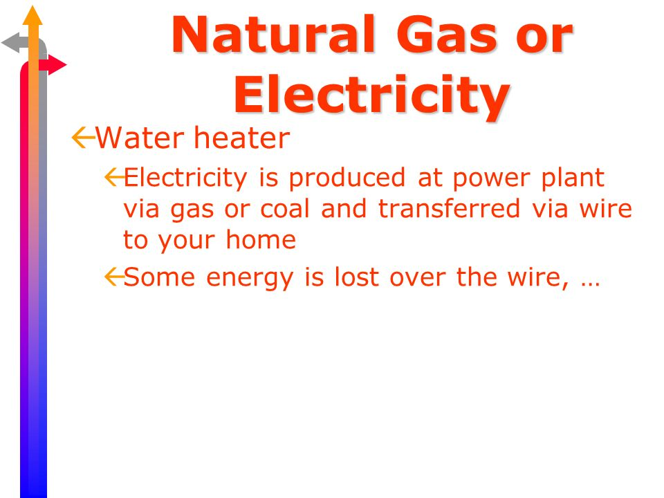 Natural Gas or Electricity