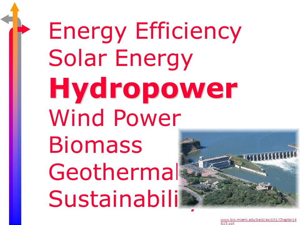 Hydropower Energy Efficiency Solar Energy Wind Power Biomass