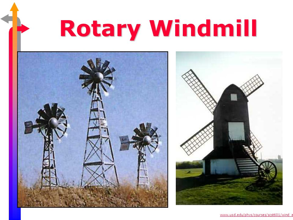 Rotary Windmill used to run water pumps, ~150,000 in U.S., provided means of pumping water.