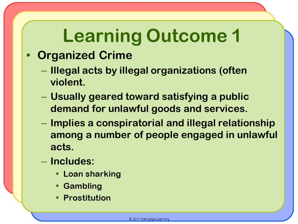 Learning Outcome 1 Organized Crime
