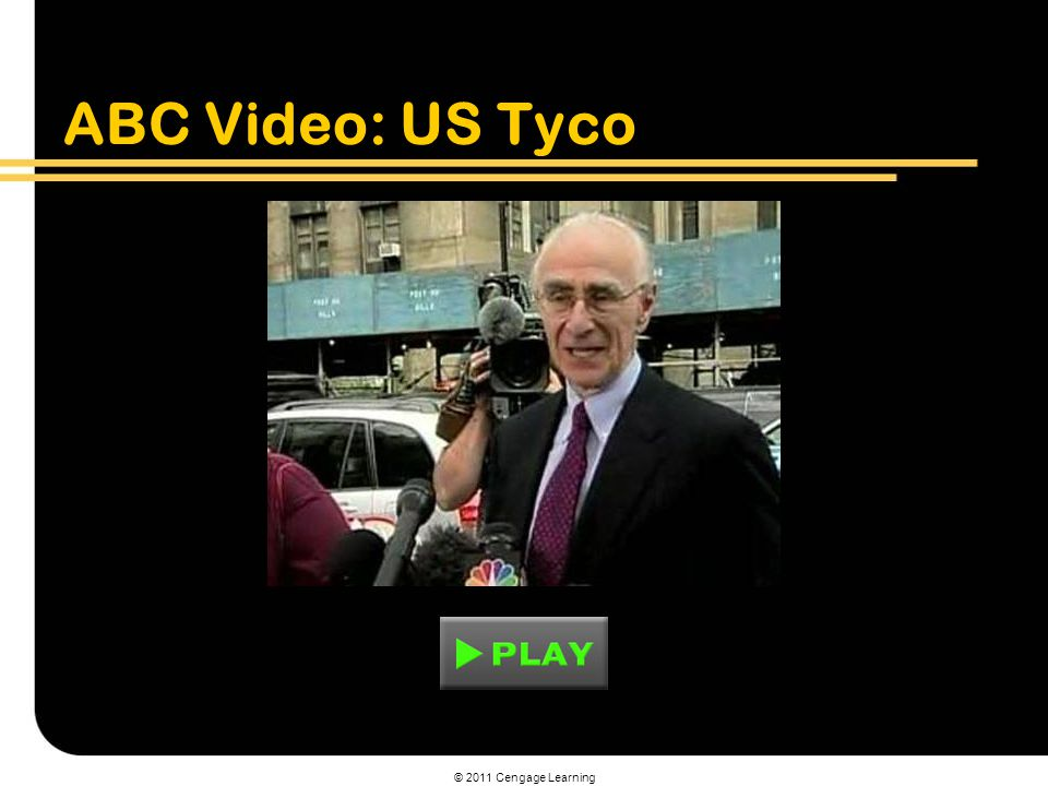 ABC Video: US Tyco © 2011 Cengage Learning