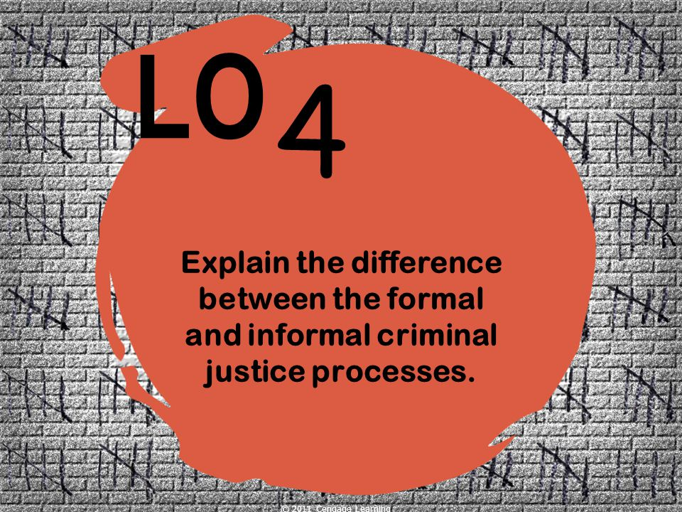 Explain the difference between the formal and informal criminal justice processes.