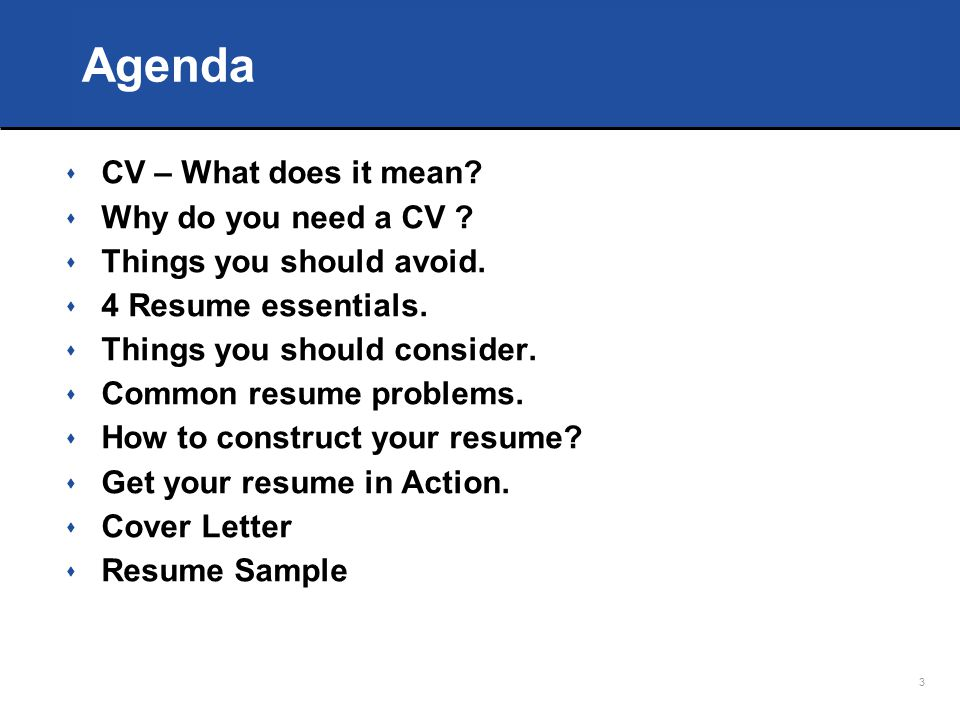 How To Write A Cv That Talks For You Ppt Download