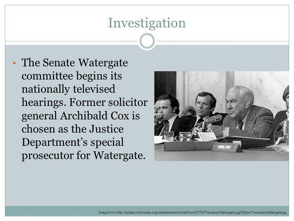 Image result for watergate hearings begin