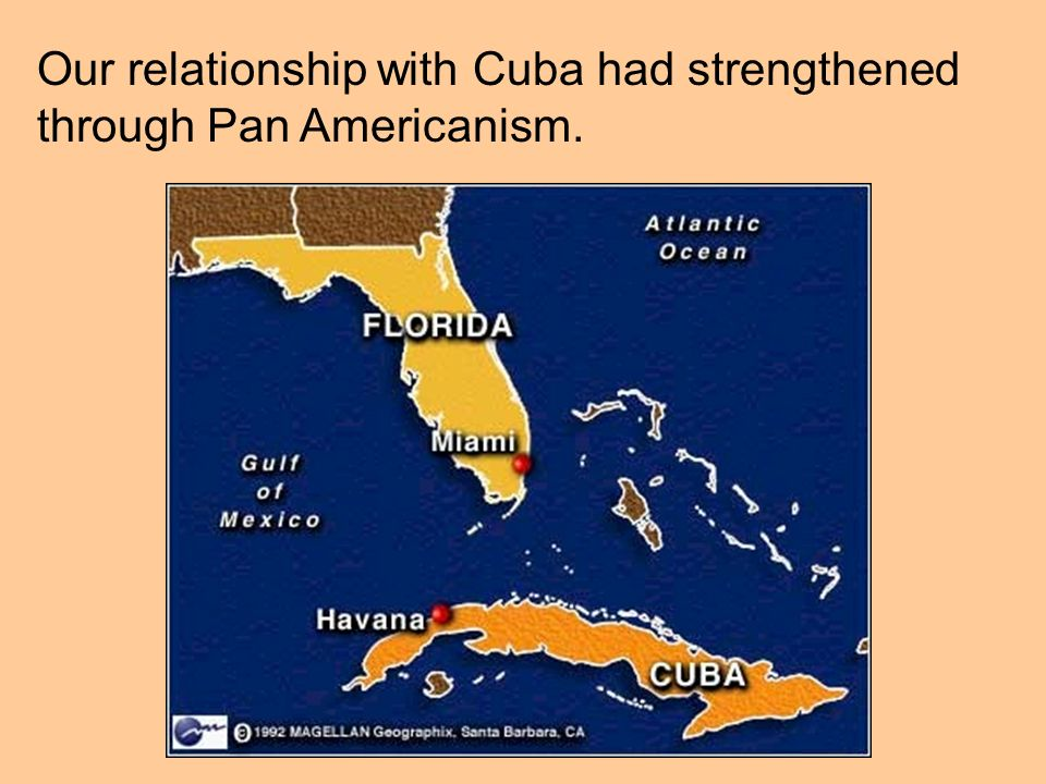 Our relationship with Cuba had strengthened