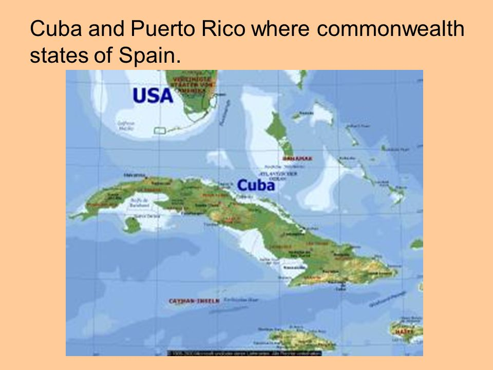 Cuba and Puerto Rico where commonwealth