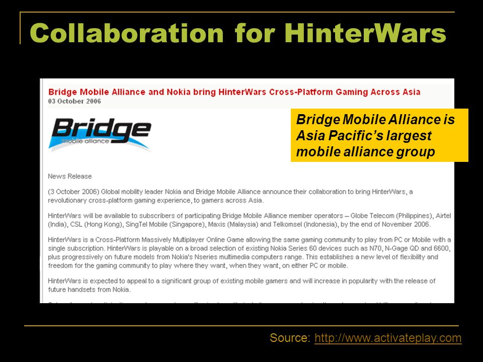 Collaboration for HinterWars